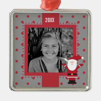 Santa Claus Red Dots Merry Christmas Ornament