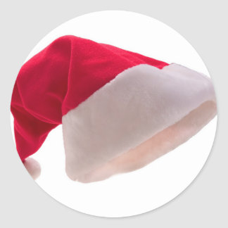 Santa Claus Red Hat Classic Round Sticker