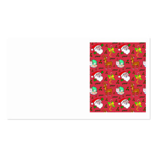 Santa Claus – Reindeer & Candy Canes Business Card Template