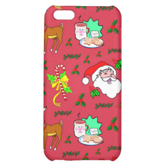 Santa Claus – Reindeer & Candy Canes Cover For iPhone 5C