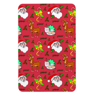 Santa Claus – Reindeer & Candy Canes Magnet