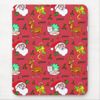 Santa Claus – Reindeer Candy Canes Mousepads