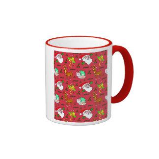 Santa Claus – Reindeer & Candy Canes Mug