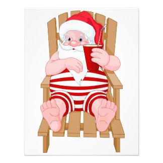 Santa Claus Relaxing Invitations