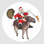 Santa Claus Riding On Donkey