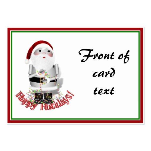 Santa Claus Robot, Robo-x9 Business Card Template