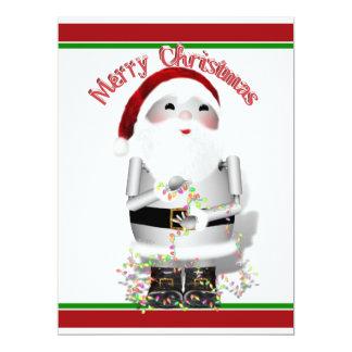 Santa Claus Robot, Robo-x9 6.5x8.75 Paper Invitation Card