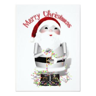 Santa Claus Robot, Robo-x9 17 Cm X 22 Cm Invitation Card