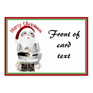Santa Claus Robot, Robo-x9 Pack Of Chubby Business Cards
