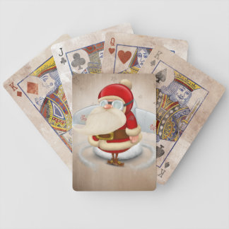 Santa Claus rocket Bicycle Playing Cards