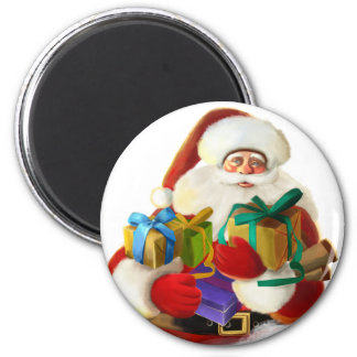 Santa Claus Round Magnet