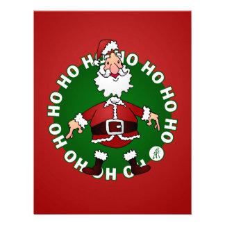 Santa Claus says Ho Ho Ho for Christmas Invites