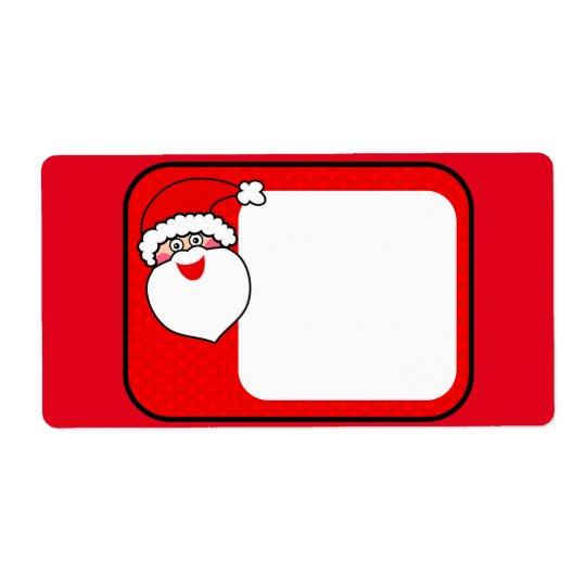 Santa Claus Shipping Label
