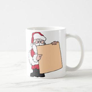 Santa Claus Sign Basic White Mug