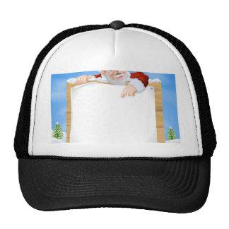 Santa Claus Sign Winter scene Trucker Hats