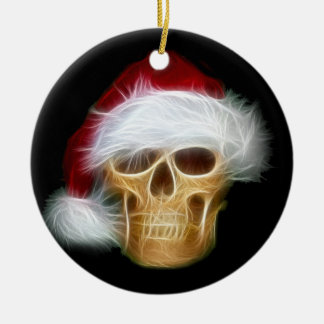 Santa Claus skull Christmas Ornament