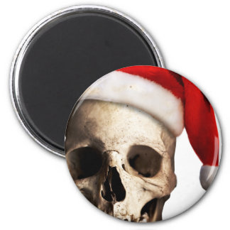 Santa Claus Skull Hat Skeleton 6 Cm Round Magnet