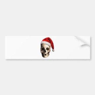 Santa Claus Skull Hat Skeleton Bumper Sticker