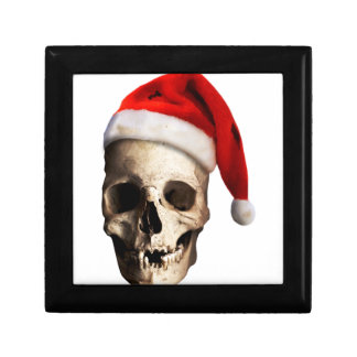 Santa Claus Skull Hat Skeleton Gift Box