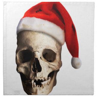 Santa Claus Skull Hat Skeleton Napkin