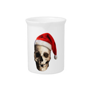 Santa Claus Skull Hat Skeleton Pitcher