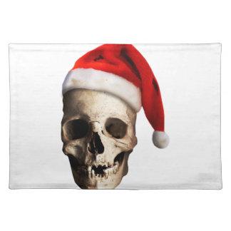 Santa Claus Skull Hat Skeleton Placemat