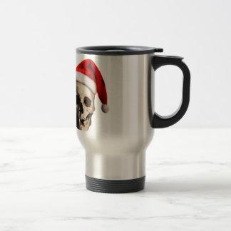 Santa Claus Skull Hat Skeleton Travel Mug