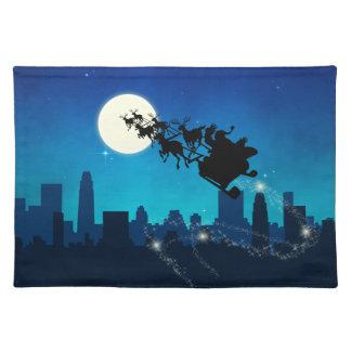 Santa Claus Sleigh Christmas - Cloth Placemat