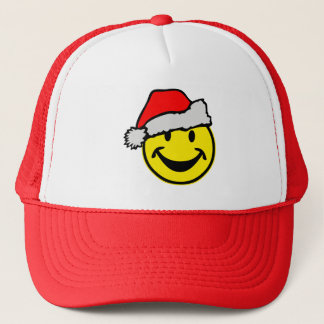 Santa Claus Smiley + your backgr. & ideas Trucker Hat
