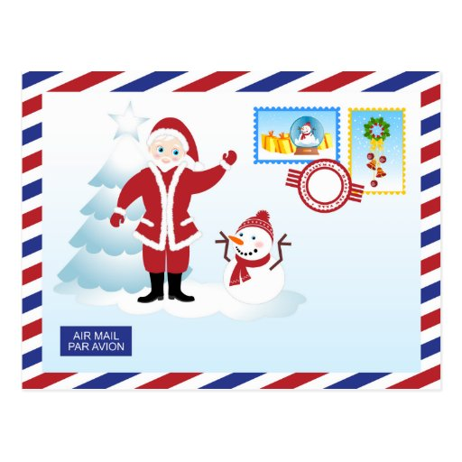 Santa Claus snail mail Post Cards