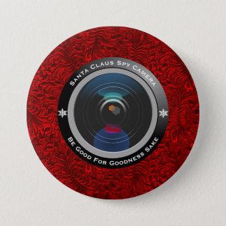 Santa Claus Spy Camera 7.5 Cm Round Badge