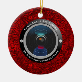 Santa Claus Spy Camera Christmas Ornament