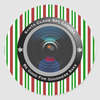 Santa Claus Spy Camera Classic Round Sticker