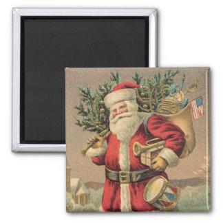 Santa Claus Square Magnet
