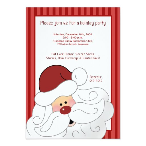 SANTA CLAUS St. Nick Holiday Party Invitation