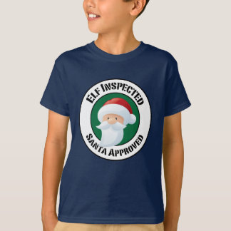 Santa Claus Stamp Holiday Tee Shirt