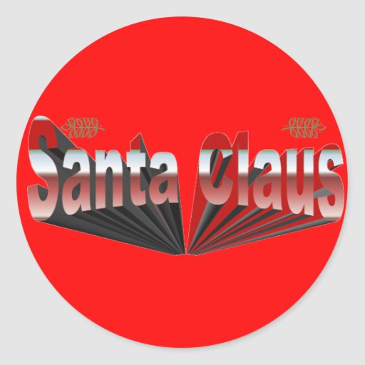 Santa Claus Round Stickers