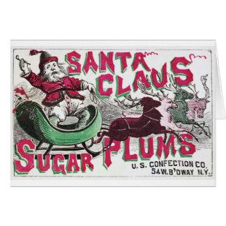Santa Claus Sugar Plums Card