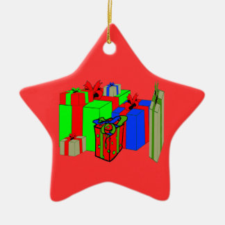 Santa Claus Suit Belly flip Present Star Ornament