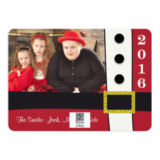 Santa Claus Suit Christmas Holiday Card