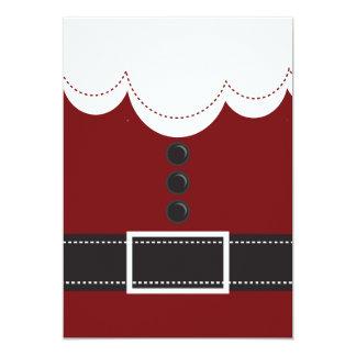 Santa Claus Suit Christmas Holiday Design 5x7 Paper Invitation Card