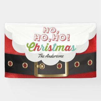 Santa Claus Suit Ho Ho Ho Christmas Happy New Year Banner