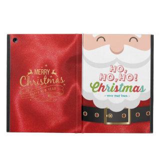 Santa Claus Suit Ho Ho Ho Christmas Happy New Year Cover For iPad Air
