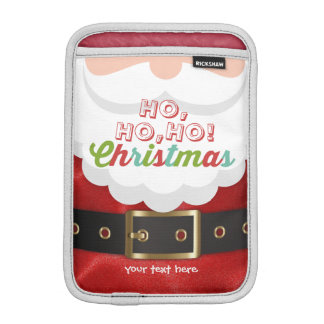 Santa Claus Suit Ho Ho Ho Christmas Happy New Year iPad Mini Sleeve