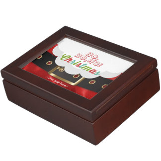 Santa Claus Suit Ho Ho Ho Christmas Happy New Year Keepsake Box