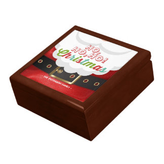 Santa Claus Suit Ho Ho Ho Christmas Happy New Year Large Square Gift Box