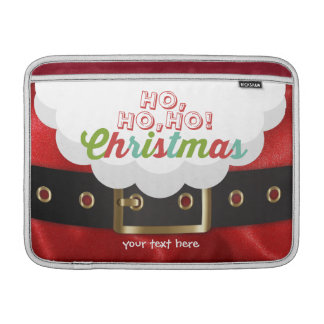 Santa Claus Suit Ho Ho Ho Christmas Happy New Year MacBook Sleeve