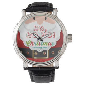 Santa Claus Suit Ho Ho Ho Christmas Happy New Year Watch