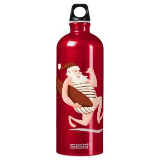 Santa claus surfing-santa claus cartoon-santa run water bottle