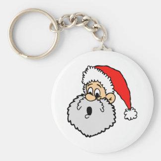 Santa Claus Surprised Key Ring